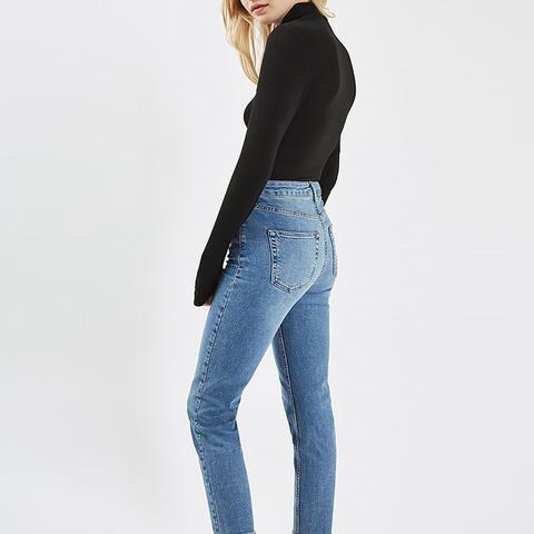 Moto Raw Hem Blue Orson Jeans