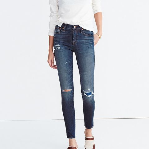 """9"""" High-Rise Skinny Jeans: Ripped and Patched Edition"""