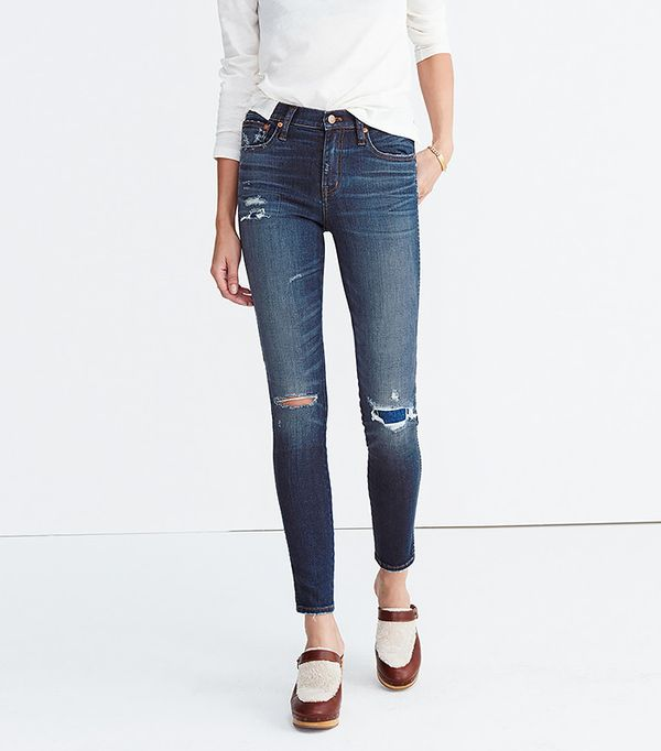 """Madewell 9"""" High-Rise Skinny Jeans: Ripped and Patched Edition"""