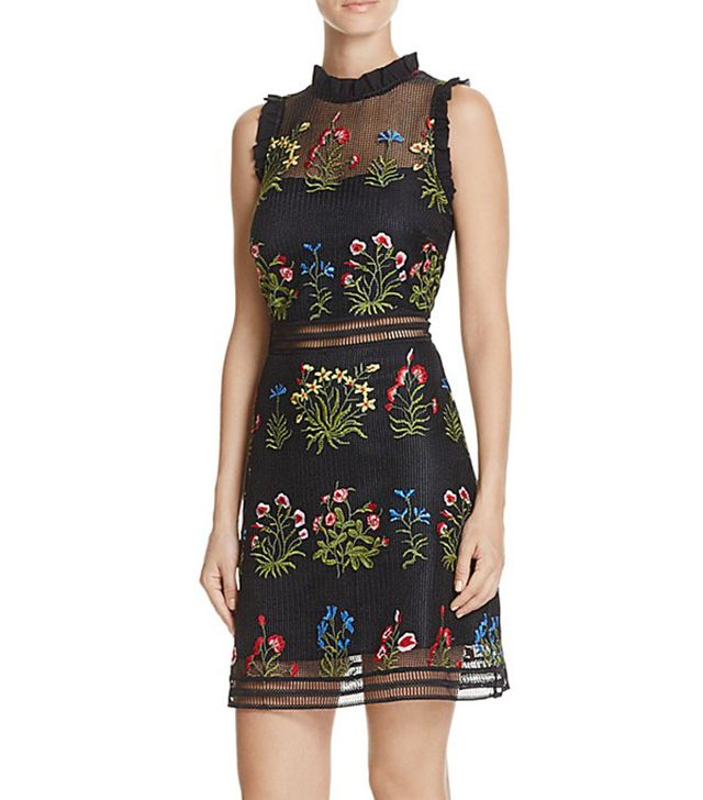 Lucy Paris Gabby Embellished Mesh Dress