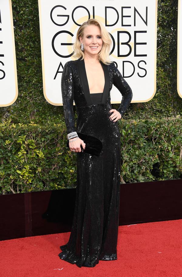 WHO: Kristen Bell WHAT: Actress WEAR: Jenny Packham