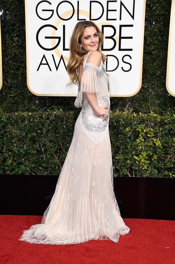 WHO: Drew Barrymore WHAT: Actress WEAR: Monique L'Huillier