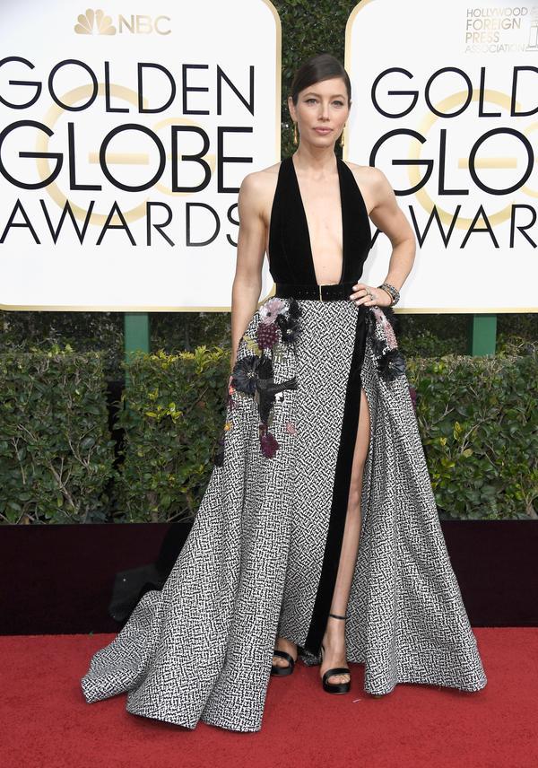 WHO: Jessica Biel WHAT: Actress WEAR: Elie Saab dress