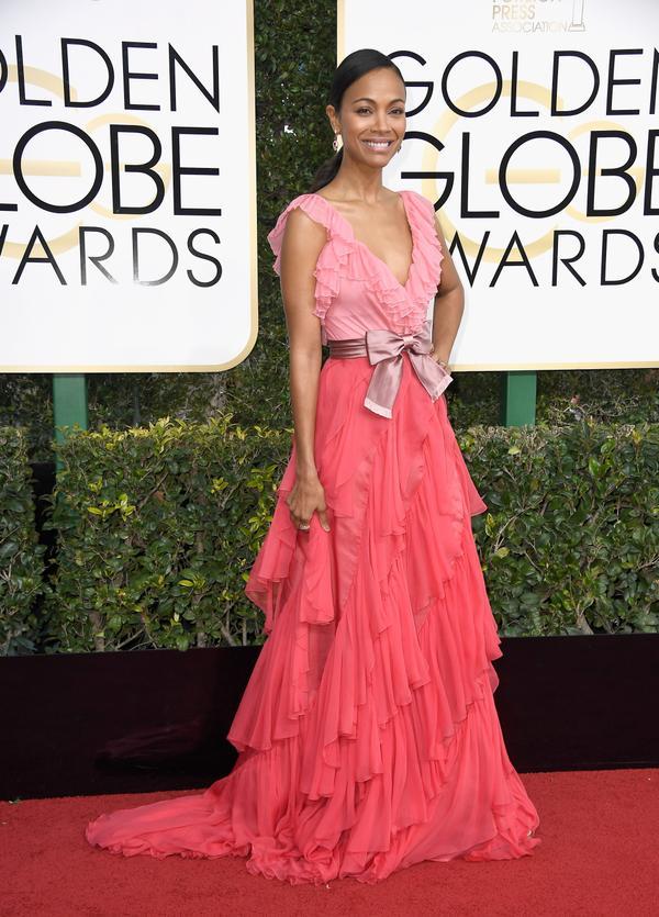 WHO: Zoe Saldana WHAT: Actress WEAR: Gucci dress