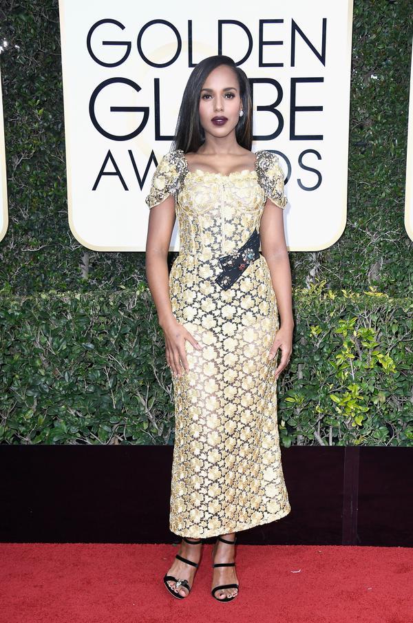 WHO: Kerry Washington WHAT: Actress WEAR: Dolce & Gabbana dress