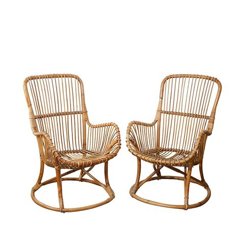 Pair Of Rattan Chairs Part 85