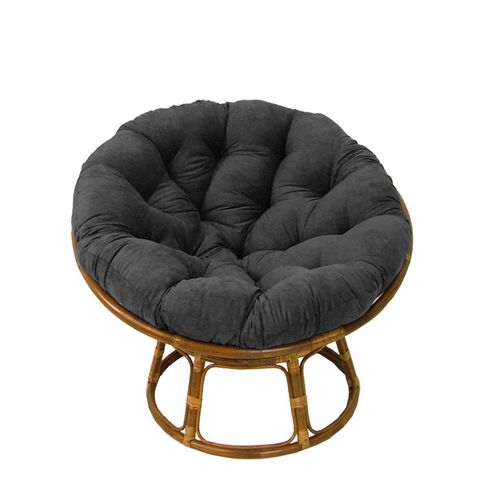 Grace Rattan Tufted Accent Chair