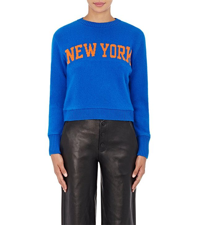The Elder Statesman x NBA New York Cashmere Sweater