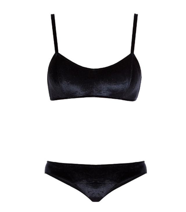 velvet bikini trend: