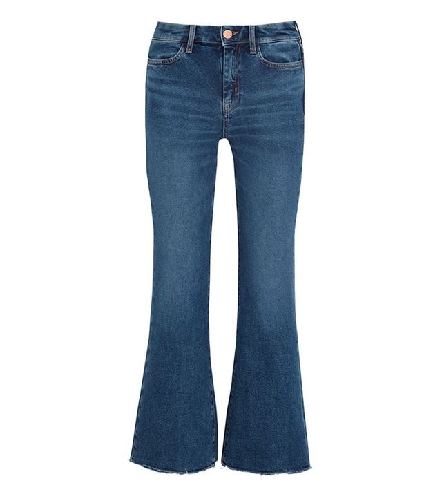 M.i.h. Jeans Lou Cropped Mid-Rise Flared Jeans