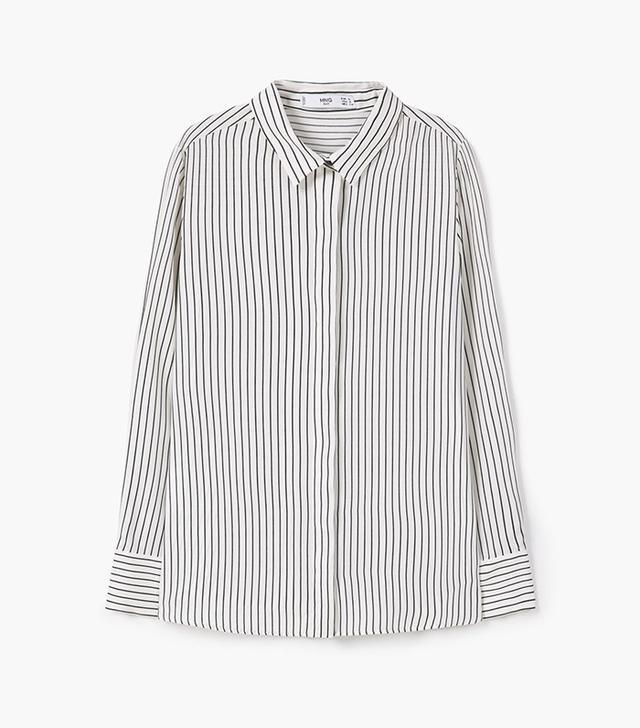 Mango Printed Flowy Shirt