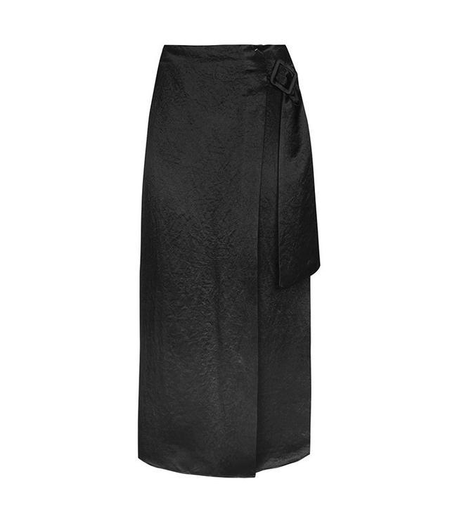 Topshop Buckle Drape Skirt
