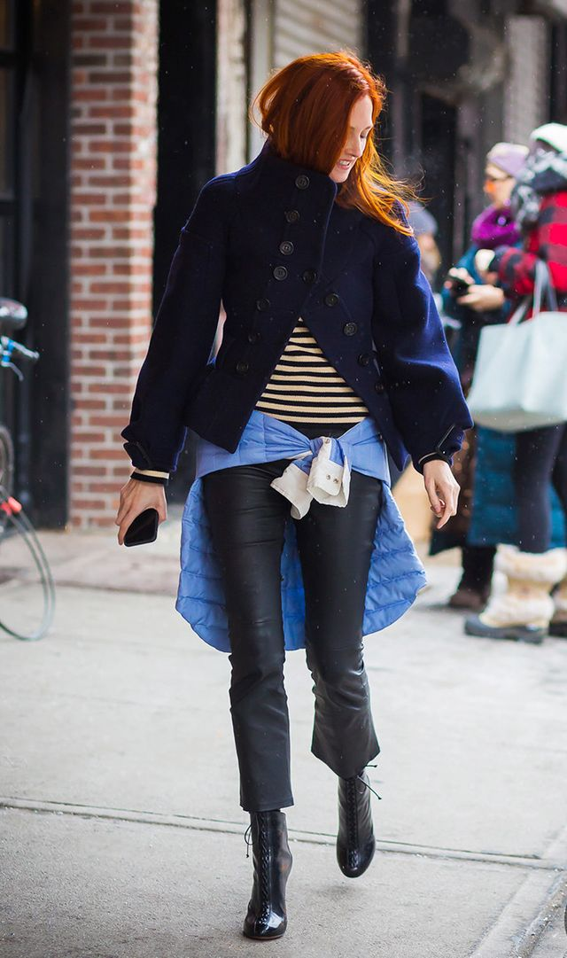"""Everyone pretty much agrees that vertical stripes are slimming and horizontal stripes are widening, but what about diagonal stripes? This academic text concludes that diagonal lines """"attract..."""