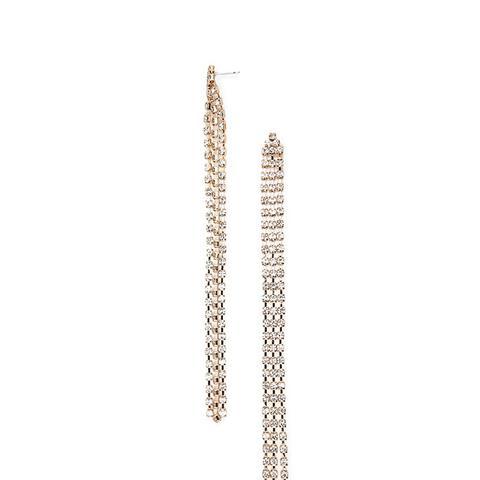 Rhinestone Duster Earrings