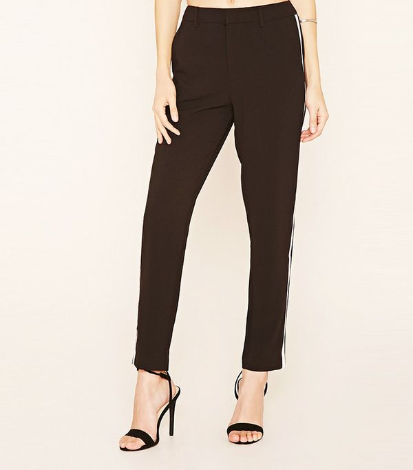 Forever 21 Contrast Trim Trousers