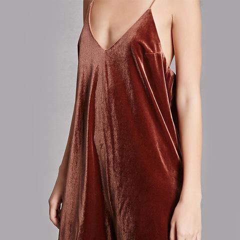 Velvet V-Neck Slip Dress
