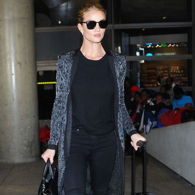 """Rosie Huntington-Whiteley Defends Being """"Overdressed"""" at the Airport"""