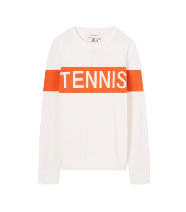 Tory Sport Cashmere Tennis Sweater