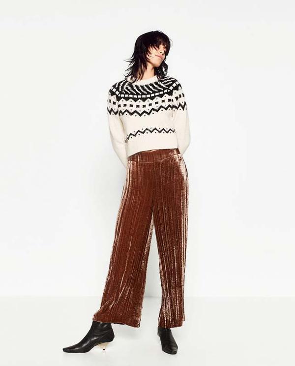 Zara Velvet Culottes