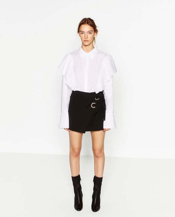 Zara Miniskirt With Bows
