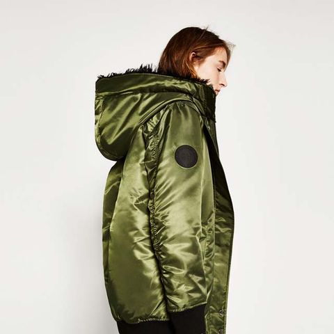 Long Hooded Bomber Jacket