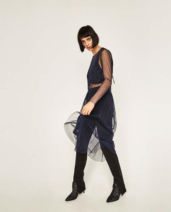 Zara Sheer Tunic
