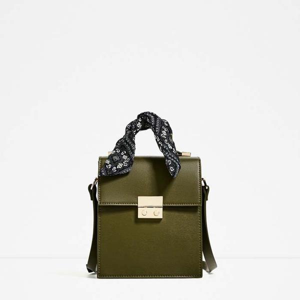 Zara Crossbody Bag With Scarf Detail