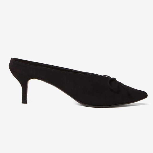 Dorothy Perkins Black Gilly Mules
