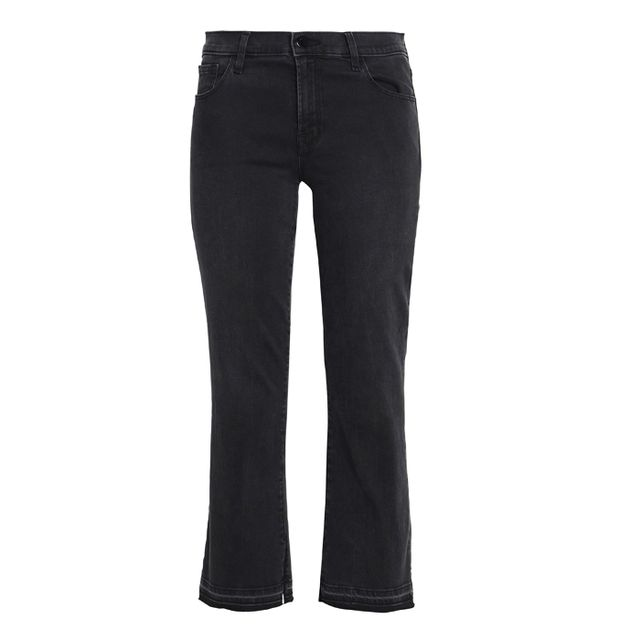 J Brand Cropped Mid-Rise Bootcut Jeans