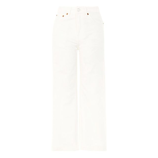 Topshop Moto White Cropped Jeans