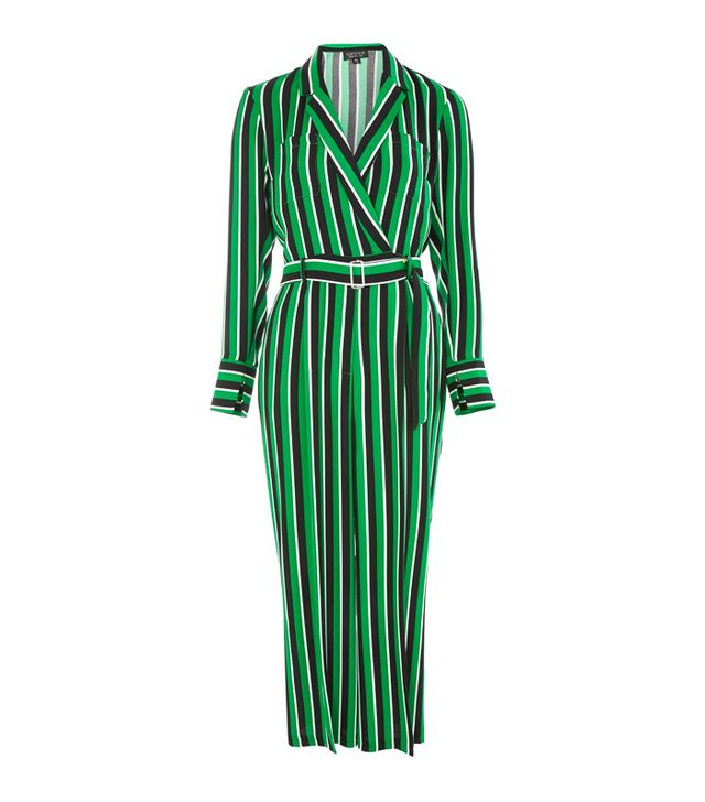 Topshop Bold Striped Jumpsuit