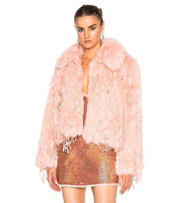 Ashish Faux Fur Dangle Jacket