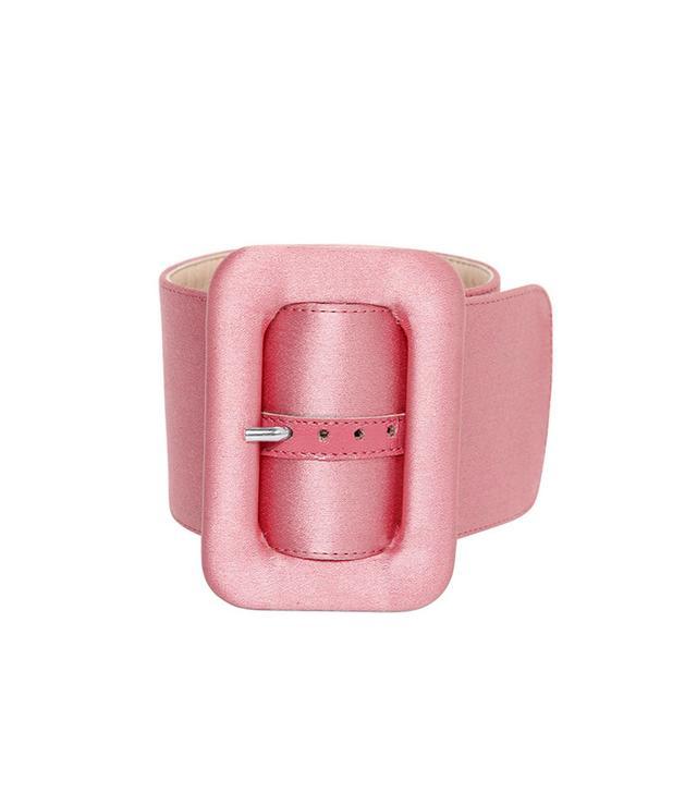 Attico Silk Satin Buckle Anklet Bracelet