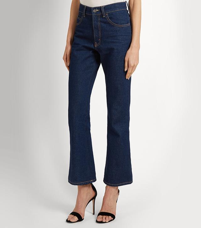 Attico Rosa High-Rise Kick-Flare Jeans