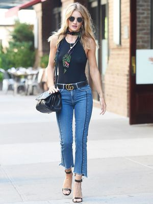 Rosie Huntington-Whiteley Already Has Our Favorite New Jeans of 2017