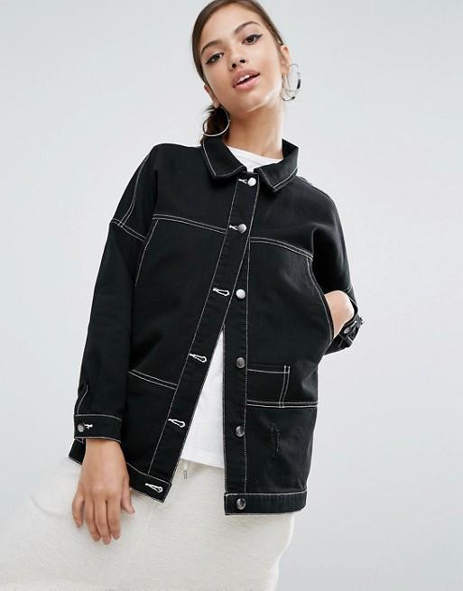 Daisy Street Longline Denim Jacket