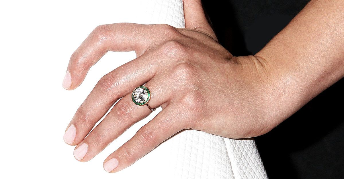 em engagement camille diamond shank vintage sylvie emerald jewellery rings cut ring split product
