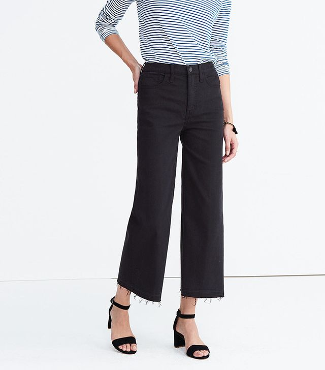 Madewell Wide-Leg Crop Jeans