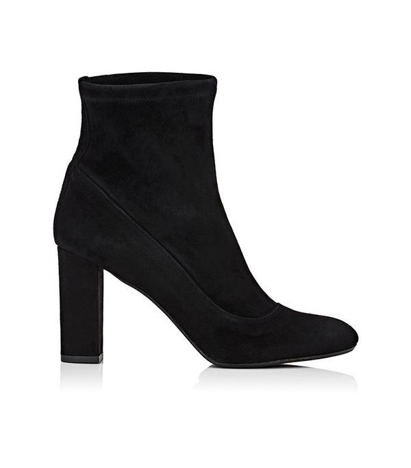 Barneys New York Block-Heel Ankle Boots