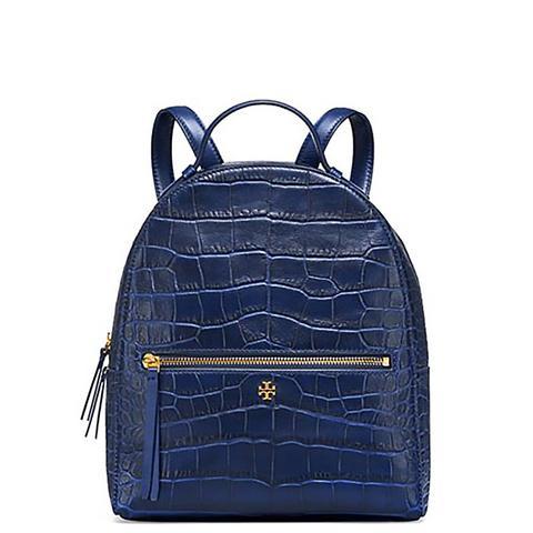 Croc-Embossed Mini Backpack