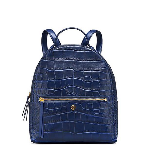 Tory Burch Croc-Embossed Mini Backpack
