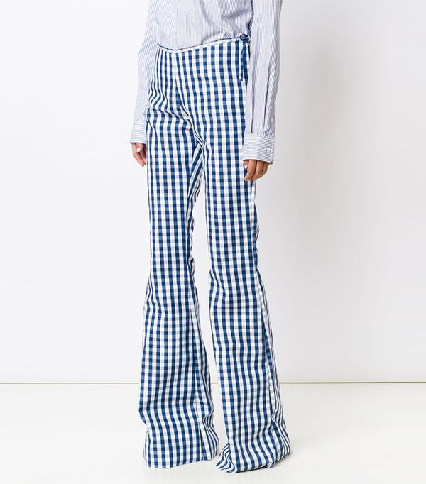 Marques'Almeida Checked Flared Trousers