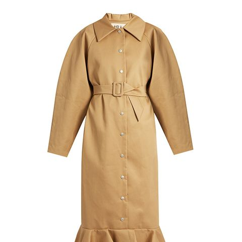 Jellyfish Fluted-Hem Oversized Trench Coat