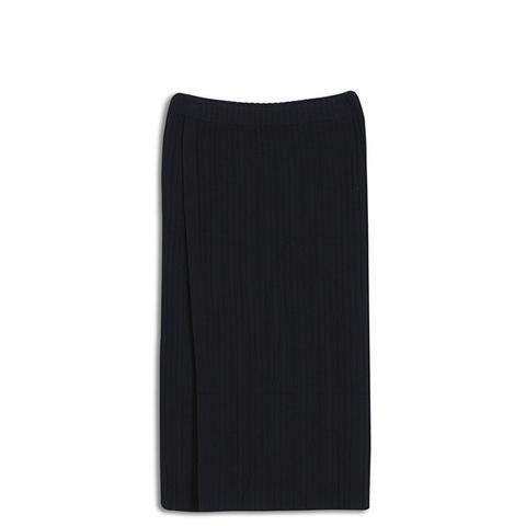 Slim Rib Wrap Skirt