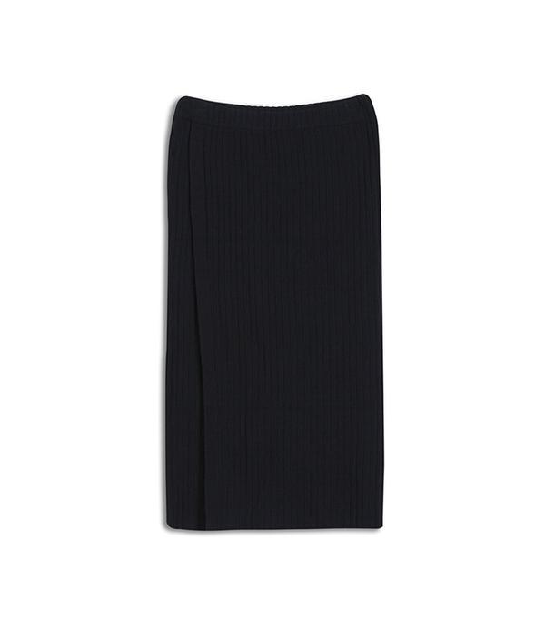 Who What Wear Slim Rib Wrap Skirt
