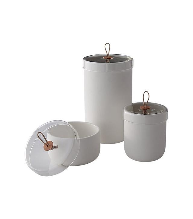 CB2 Ventura White Ceramic Canisters