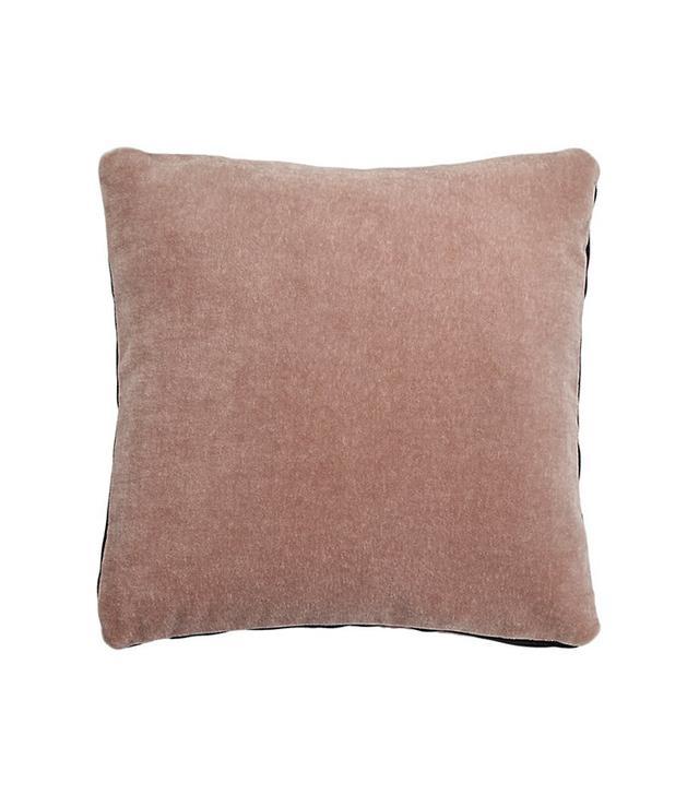 CB2 Mohair Pink Pillow