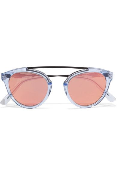 Westward Leaning x Olivia Palermo Flower 14 Aviator-Style Mirrored Sunglasses