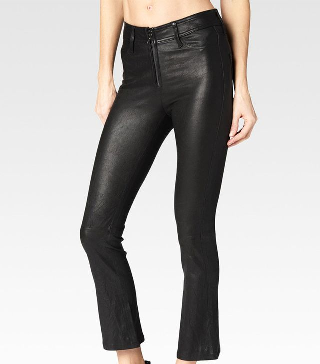 Paige Carine Black Leather Pants
