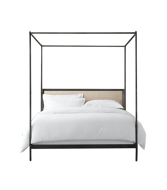 Restoration Hardware 19th. Century French Iron Four-Poster Bed